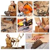 Carpenter at work detail royalty free stock image