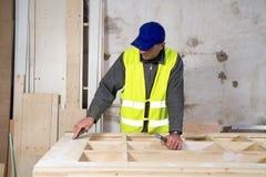 Carpenter at work Stock Image