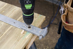 Carpenter at work Stock Photos