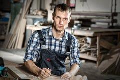 Carpenter at work Royalty Free Stock Images