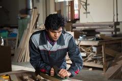 Carpenter at work Stock Photography