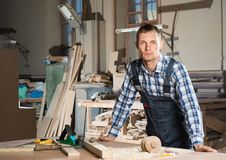 Carpenter at work Royalty Free Stock Image