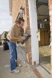 Carpenter working stock images