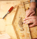 Carpenter working Stock Photography