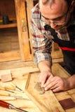 Carpenter working Royalty Free Stock Image