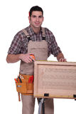 A carpenter working Royalty Free Stock Images