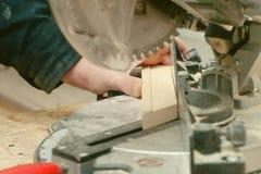 Carpenter working,hammer,meter and screw-driver Stock Photo