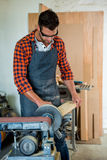 Carpenter working on his craft Stock Photography