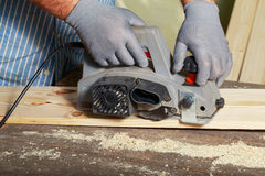Carpenter is working Royalty Free Stock Image