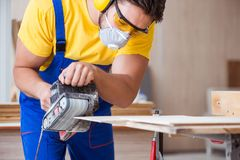 The carpenter working in the workshop Royalty Free Stock Photography