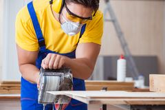 The carpenter working in the workshop Stock Photos