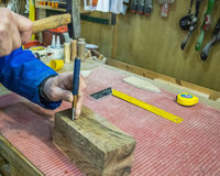 Carpenter workplace- Manuals works on wood. Carpenter workplace- Manuals works on wood royalty free stock image