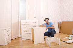Carpenters of furniture Royalty Free Stock Images