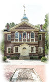 Carpenters hall. In old city philadelphia Royalty Free Stock Images