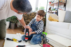 Carpenter's little helper Stock Image
