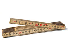 Carpenters ruler. Ready to measure Stock Photo