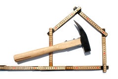 Carpenters ruler Royalty Free Stock Photo