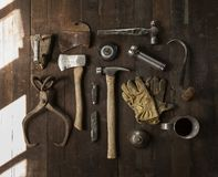 Carpenters tools Stock Image