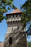 Carpenters tower in old town center of Sibiu Royalty Free Stock Image