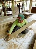 Carpenters. The carpenters were building a house in the central Java city of Solo, Indonesia Royalty Free Stock Image
