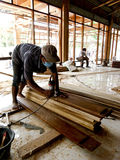 Carpenters. Were making furniture in the city of Solo, Central Java, Indonesia Royalty Free Stock Photos