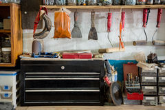 Carpenters workbench Royalty Free Stock Photography