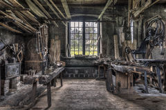 Carpenters workshop in Gammelstilla, Sweden Royalty Free Stock Image