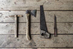 Carpentiere anziano degli strumenti Immagini Stock