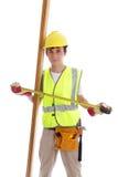 Carpentiere del costruttore dell'apprendista immagine stock