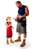 Carpentiere del figlio e del padre Fotografia Stock Libera da Diritti