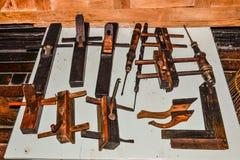 Carpentiere di legno di saggezza piega Immagine Stock