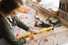 Carpentiere femminile Immagine Stock