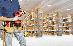 Carpentiere in servizio immagine stock libera da diritti