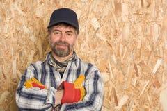 Carpentiere sorridente Fotografia Stock Libera da Diritti
