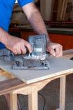 Carpentiere sul lavoro Immagine Stock