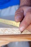 Carpentiere sul lavoro Fotografia Stock Libera da Diritti