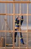 Carpentiere sul lavoro Immagine Stock Libera da Diritti