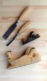 Carpentiere Tools Planes e scalpelli Immagini Stock Libere da Diritti