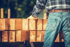 Carpentiere Wood Material immagini stock