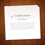 Carpentry Background on Wooden Texture Royalty Free Stock Photography