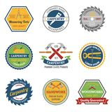 Carpentry color emblems Royalty Free Stock Image