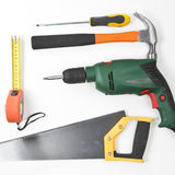 Carpentry, construction tools Stock Image