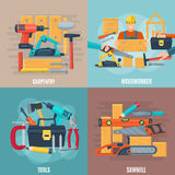 Carpentry Design Concept Set Royalty Free Stock Image