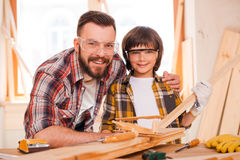 Carpentry is a family business. Royalty Free Stock Photo