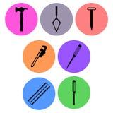 Carpentry Icon designs Royalty Free Stock Photo
