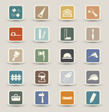 Carpentry Icons Stock Images
