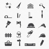 Carpentry Icons. Illustration of carpentry icons vector illustration