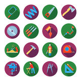 Carpentry Icons Set Royalty Free Stock Image