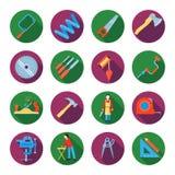 Carpentry Icons Set Royalty Free Stock Image