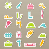 Carpentry icons set Royalty Free Stock Images